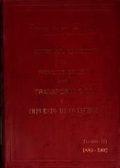 Apuntes para el estudio del proyecto de ley sobre transformación del impuesto de consumos: Volumen 3