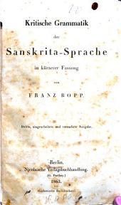 Kritische Grammatik der Sanskrita-Sprache..