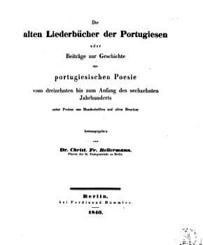 Die alten liederb  cher der Portugiesen PDF