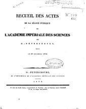 Recueil des actes de la séance publique de l'Académie Impériale des Sciences de St. Pétersbourg, tenue le 29 décembre 1832