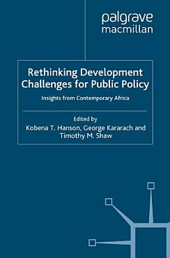 Rethinking Development Challenges for Public Policy PDF