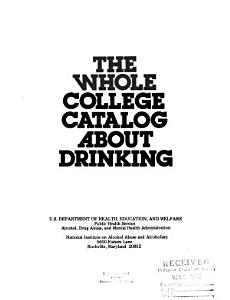 The Whole College Catalog about Drinking PDF