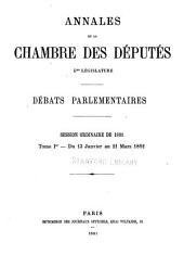 Annales: Débats parlementaires, Volume33