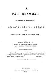 A Pali Grammar on the Basis of Kachchayano with Chrestomathy & Vocabulary