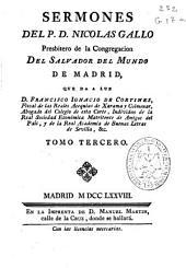 Sermones del P.D. Nicolas Gallo ...