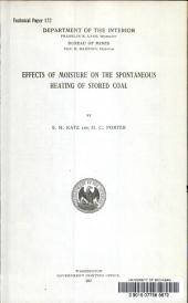Effects of moisture on the spontaneous heating of stored coal