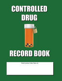 Controlled Drug Record Book