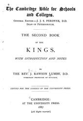 The Second Book of the Kings: With Introduction and Notes