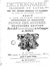 Dictionnaire françois et latin