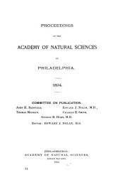 Proceedings of the Academy of Natural Sciences of Philadelphia: Volume 46