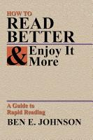 How to Read Better and Enjoy It More PDF