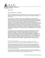 DOD business systems modernization limited progress in development of business enterprise architecture and oversight of information technology investments   congressional defense committees PDF