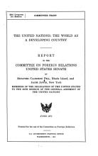 The United Nations  the World as a Developing Country PDF