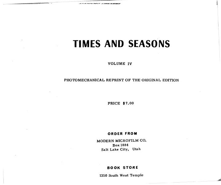 The Times and Seasons