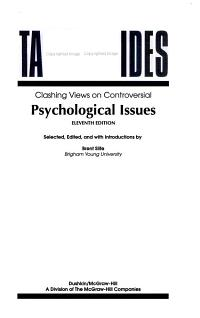 Clashing Views on Controversial Psychological Issues PDF