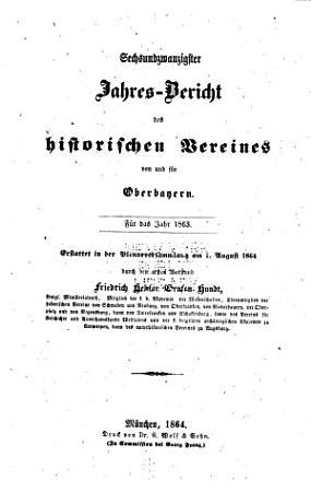 Jahres bericht des Historischen vereines von Oberbayern PDF