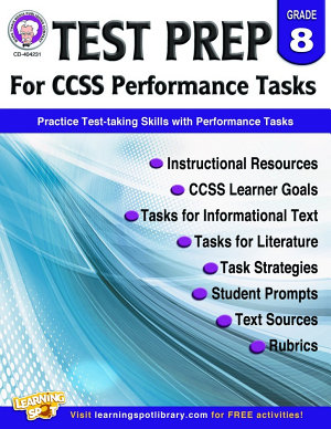 Test Prep for CCSS Performance Tasks  Grade 8 PDF