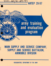 Army Training and Evaluation Program: Main Supply and Service Company, Supply and Service Battalion, Airmobile Division