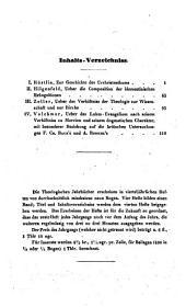 Theologische Jahrbücher: Band 9