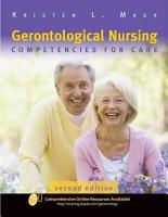 Gerontological Nursing  Competencies for Care PDF