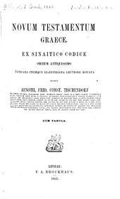 Novum Testamentum græce: Ex sinaitico codice omnium antiquissimo vaticana itemque Elzeviriana lectione notata