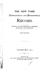 The New York Genealogical and Biographical Record: Volume 45