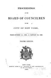 Proceedings of the Board of Councilmen of the City of New York: Volume 88