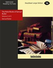 The Note books of Samuel Butler PDF