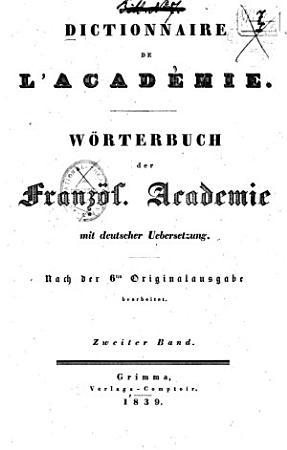 Dictionnaire de l Acad  mie fran  aise PDF