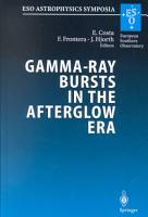 Gamma Ray Bursts in the Afterglow Era PDF