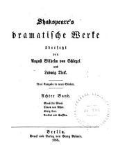 Shakspeare's dramatische Werke: Maass für Maass. Timon von Athen. König Lear. Troilus und Cressida