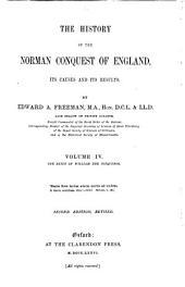 The reign of William the Conquereror. 1871