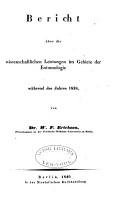 Berichte   ber die wissenschaftlichen Leistungen im Gebiete der Entomologie PDF