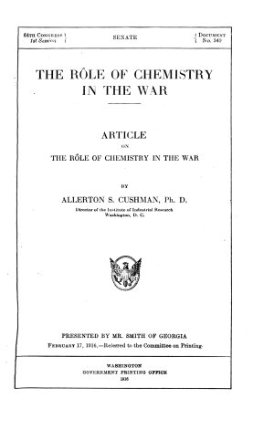 The R  le of Chemistry in the War