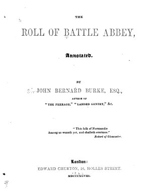 The Roll of Battle Abbey  Annotated