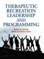 Therapeutic Recreation Leadership and Programming PDF