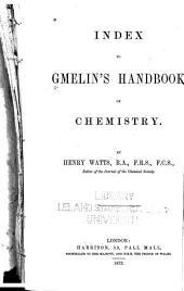 Index to Gmelin's Handbook of Chemistry