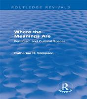 Where the Meanings Are  Routledge Revivals  PDF