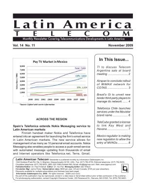 Latin America Telecom Monthly Newsletter November 2009 PDF
