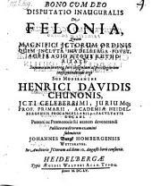 De felonia; Respond: Johanne Burgk. - Heidelbergae, Aegidius Walter 1655
