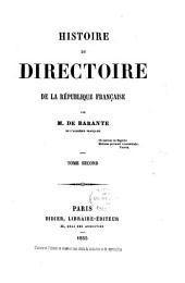 Histoire du directoire de la République Française: Volume2
