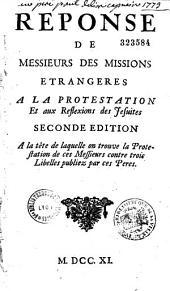 Réponse de Messieurs des Missions étrangères