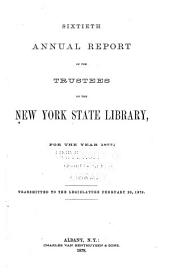New York State Library [annual Report]: Volume 60