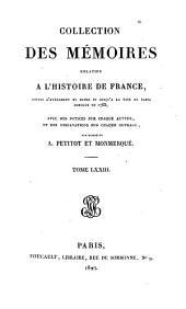 Collection des mémoires relatifs à l'histoire de France: Mémoires du duc de Noailles ; t. III, Volume73