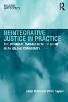 Reintegrative Justice in Practice PDF