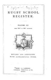 Rugby School Register: 1874-1887, rev