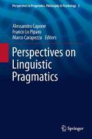 Perspectives on Linguistic Pragmatics PDF