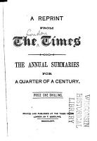 A Reprint from the Times PDF