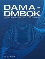 DAMA DMBOK  Gu  a Del Conocimiento Para La Gesti  n De Datos  Spanish Edition  PDF