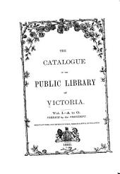 Catalogue of the Library of Congress: Index of Subjects. In Two Volumes...